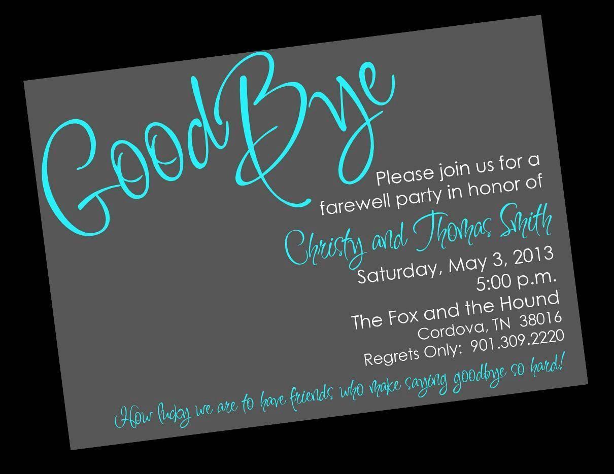 Free Farewell Party Invitation Templates