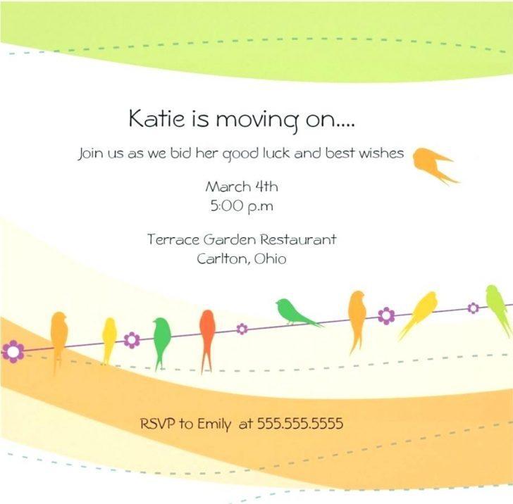 Free Farewell Potluck Invitation Template