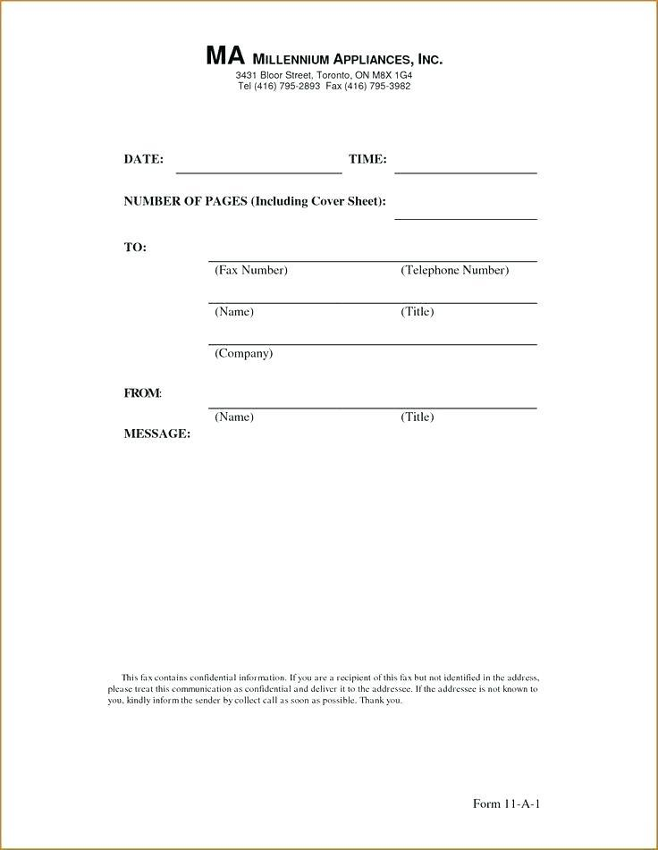 Free Fax Cover Sheet Template With Confidentiality Statement