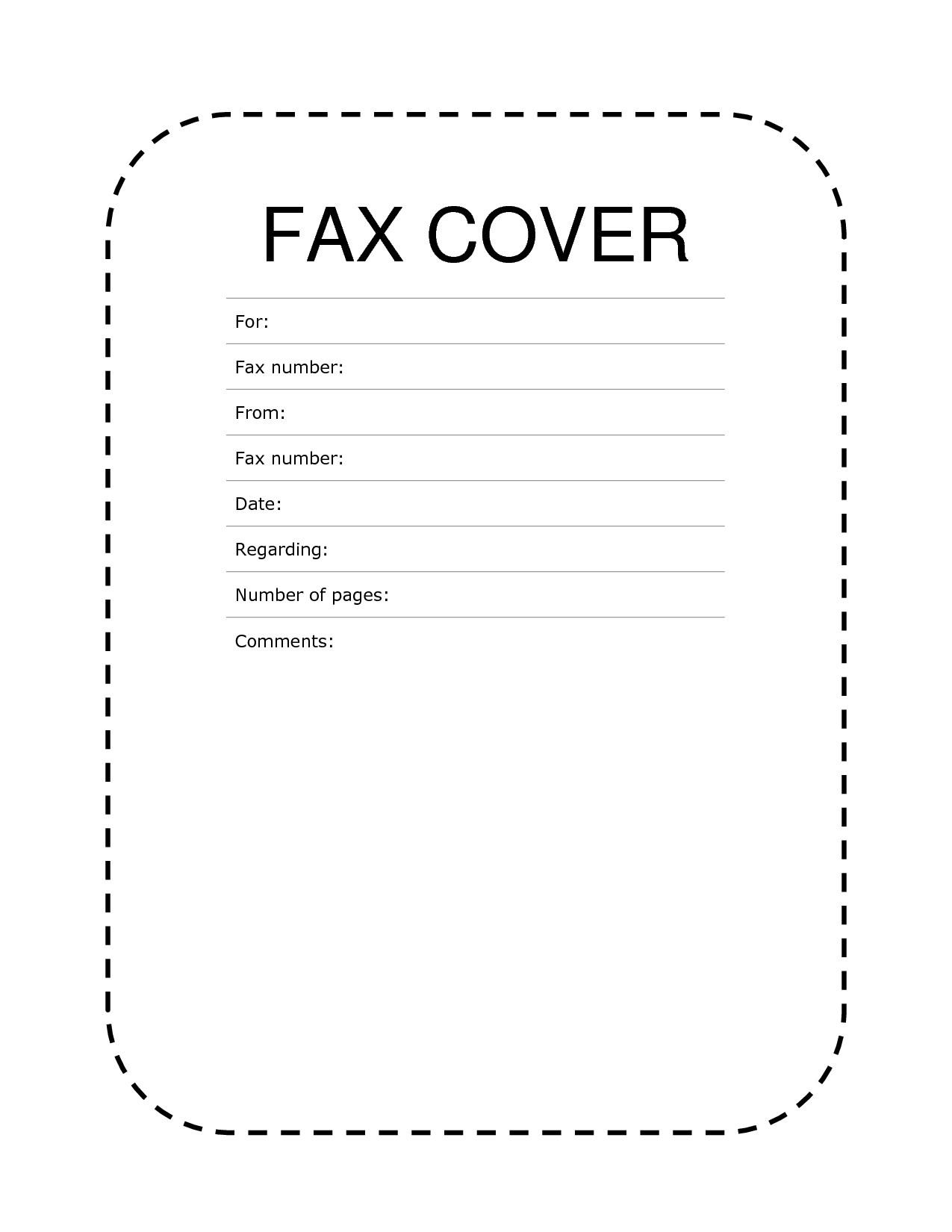 Free Fax Cover Sheets Templates Printable