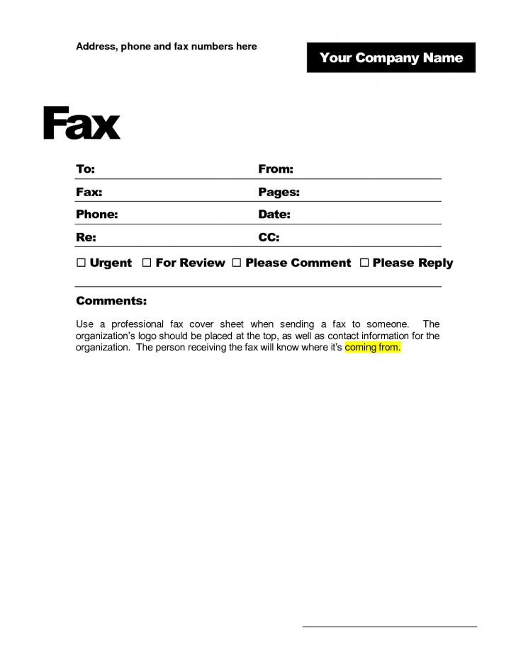 Free Fax Template Open Office