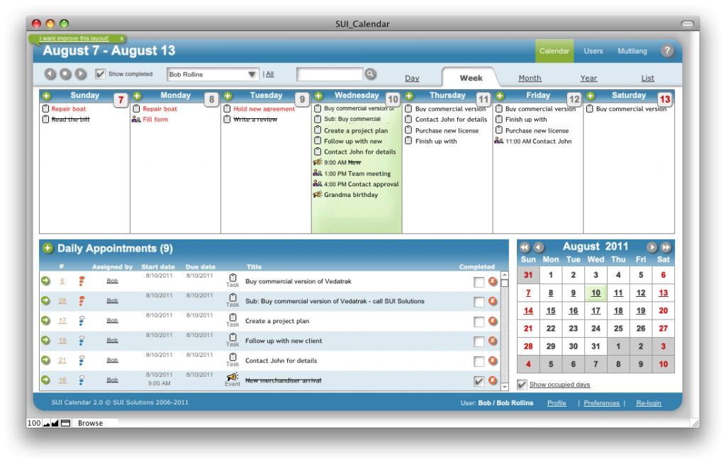 Free Filemaker Pro Calendar Template