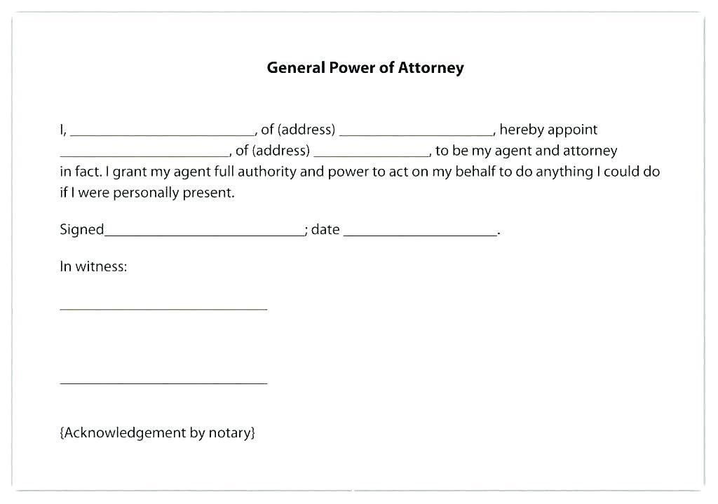 Free Financial Power Of Attorney Template