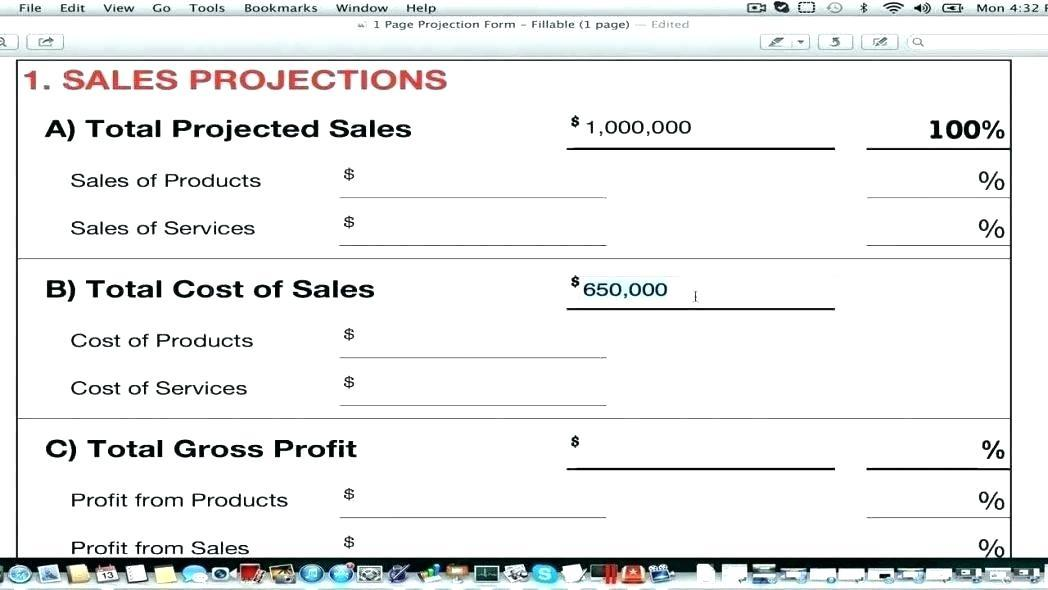 Free Financial Projections Template For Business Plan