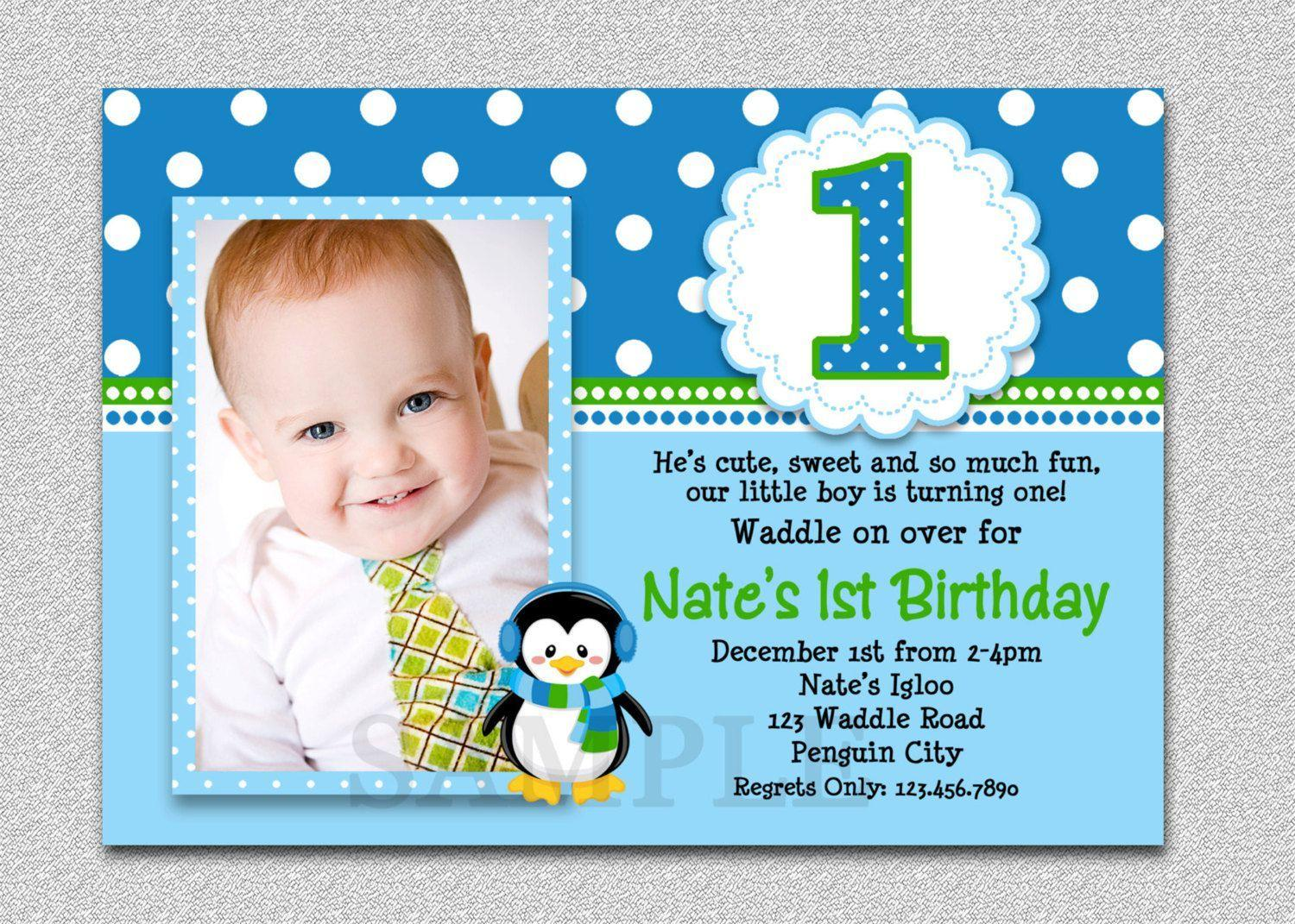 Free First Year Birthday Invitation Templates