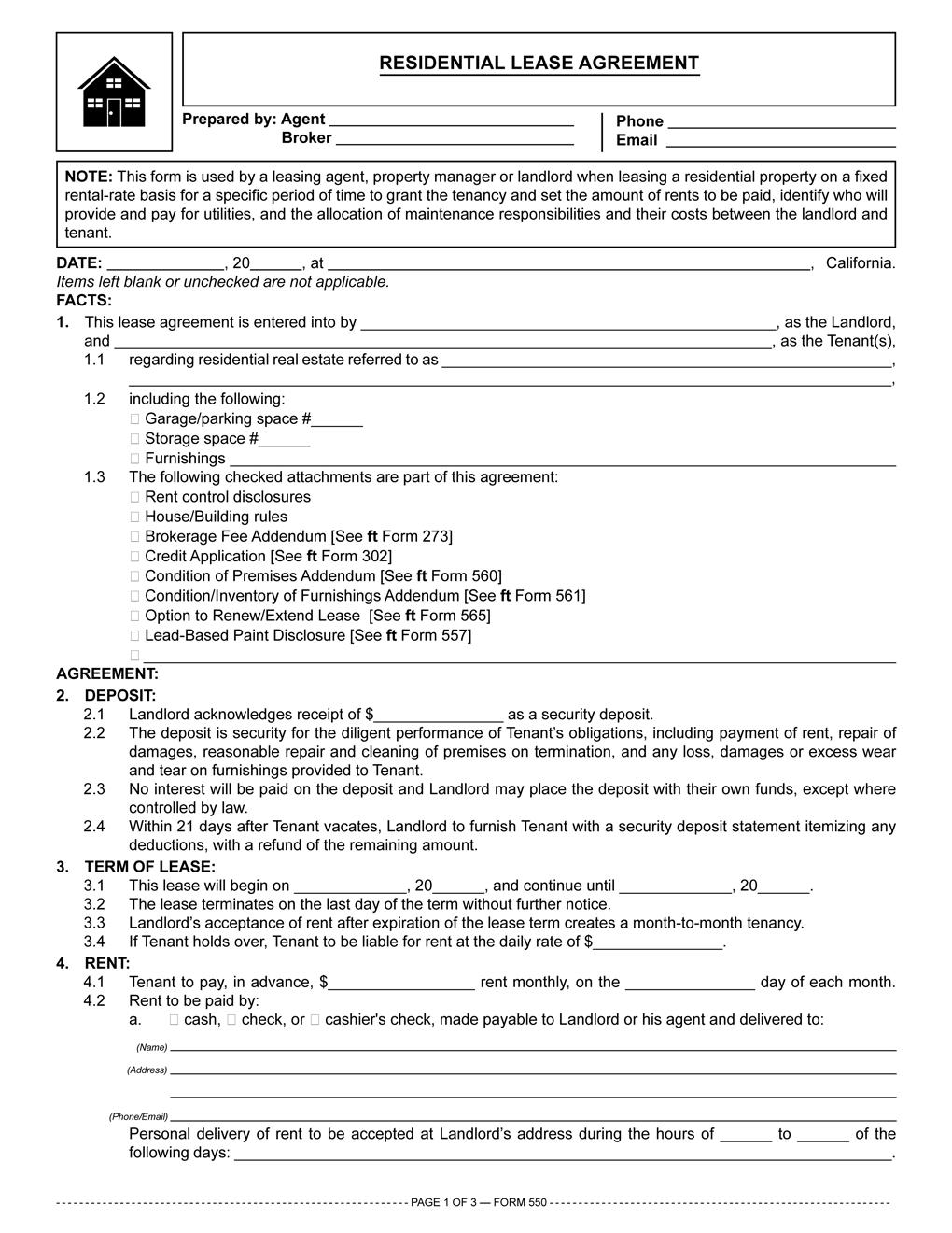Free Florida Rental Lease Agreement Templates