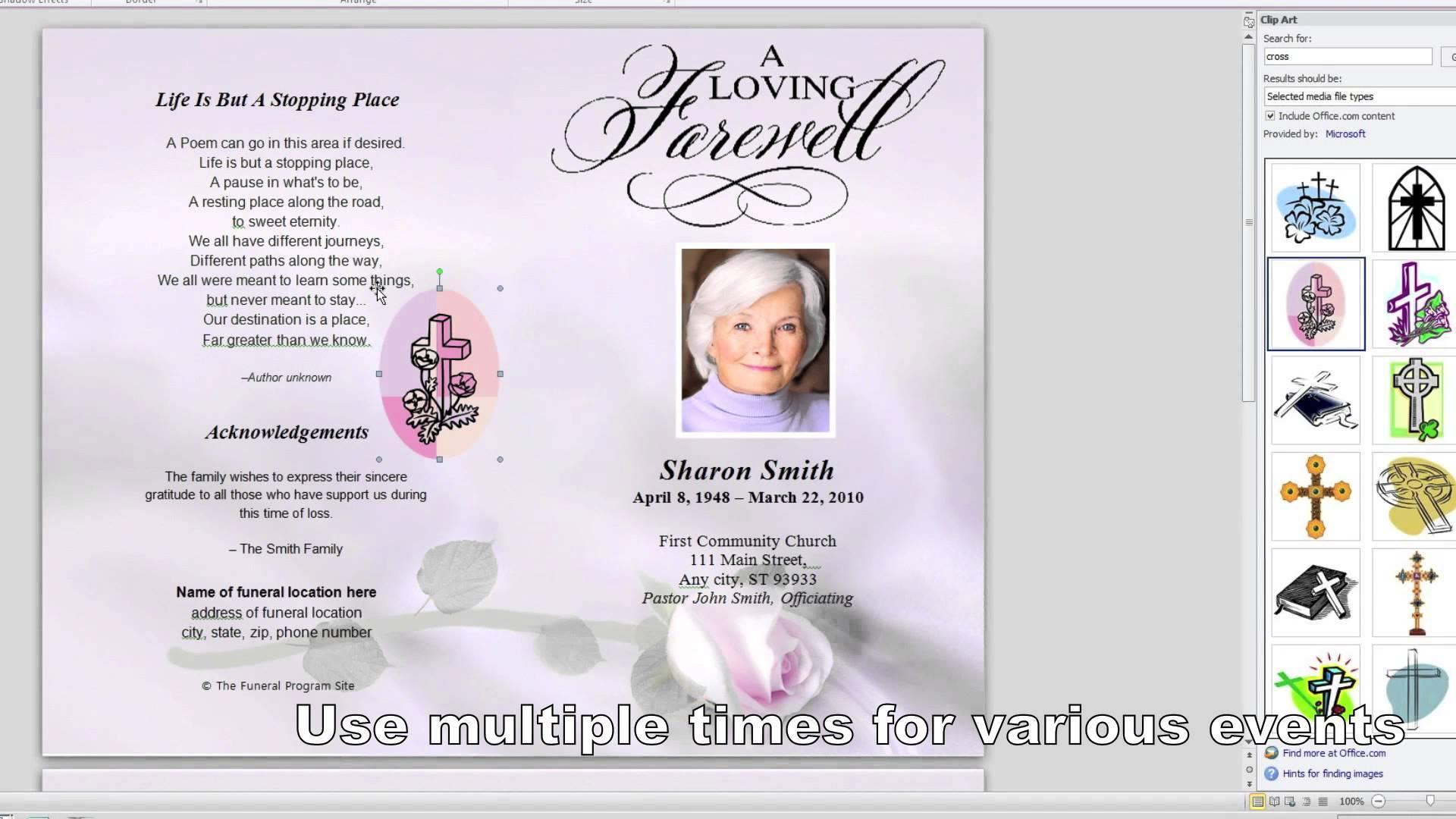 Free Funeral Brochure Template Word