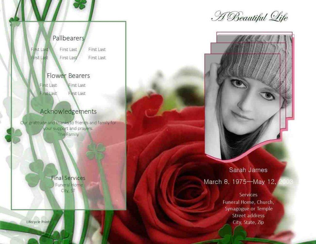 Free Funeral Brochure Templates Online