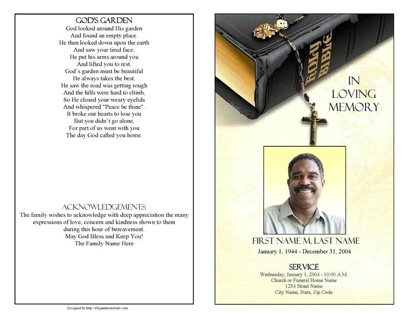 Free Funeral Program Template For Apple Pages