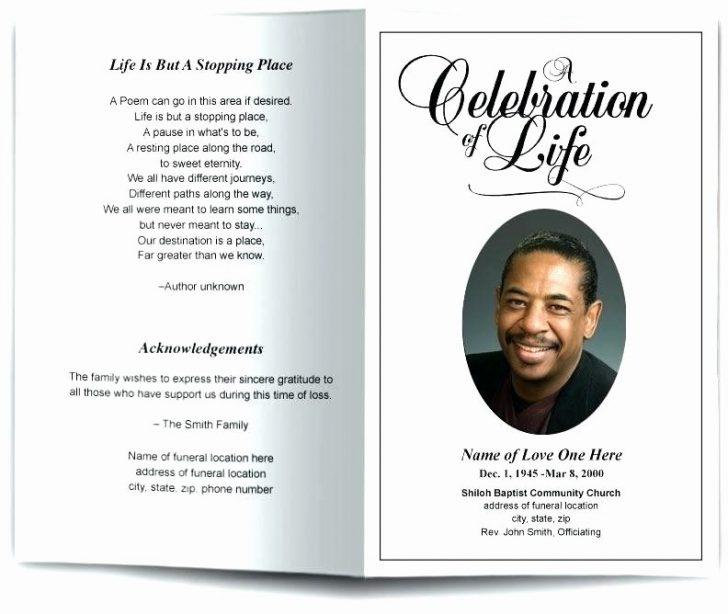 Free Funeral Program Template Publisher