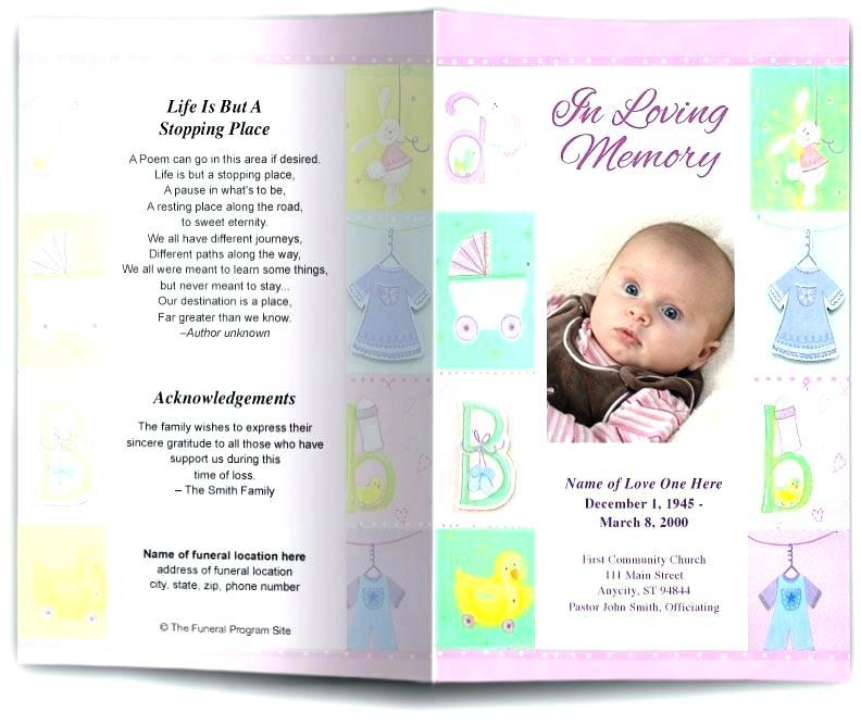 Free Funeral Program Template Uk