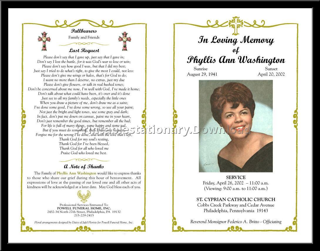 Free Funeral Program Templates Online