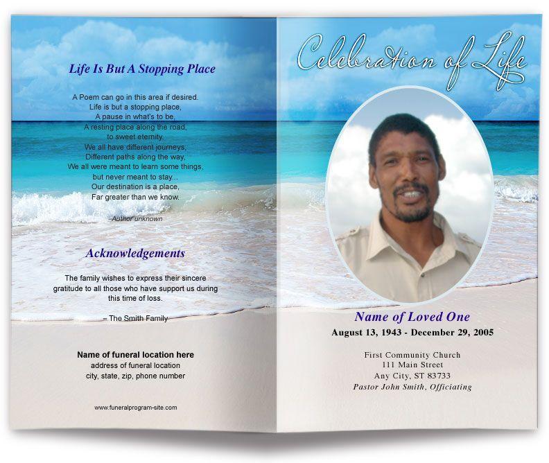Free Funeral Service Program Template