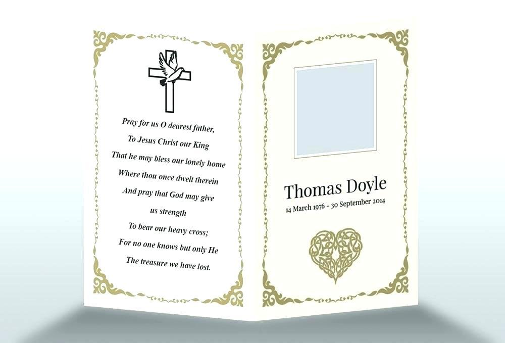 Free Funeral Service Template Uk