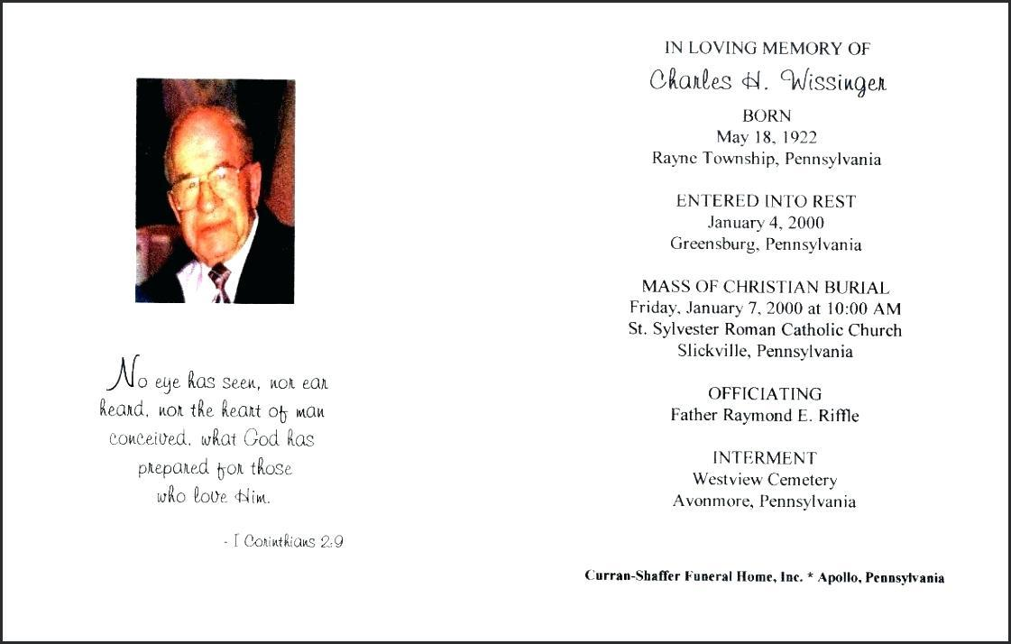Free Funeral Service Template Word