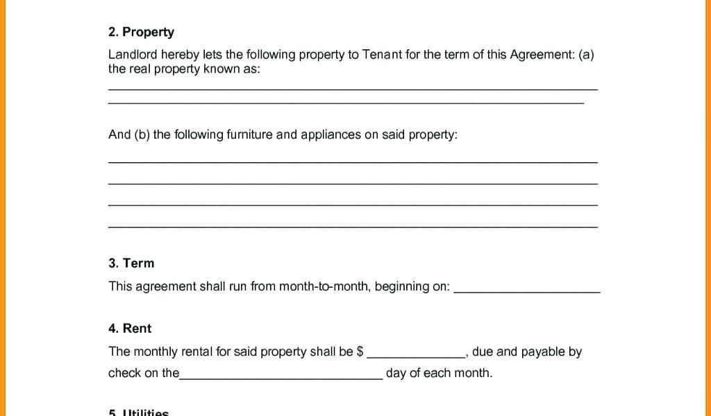Free Furniture Rental Agreement Template