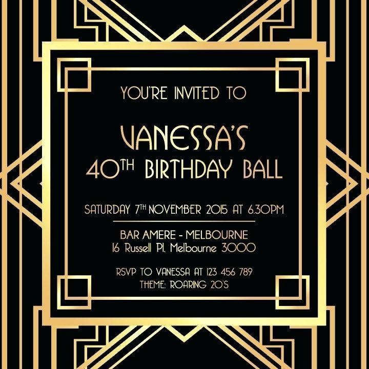 Free Gatsby Invitation Template