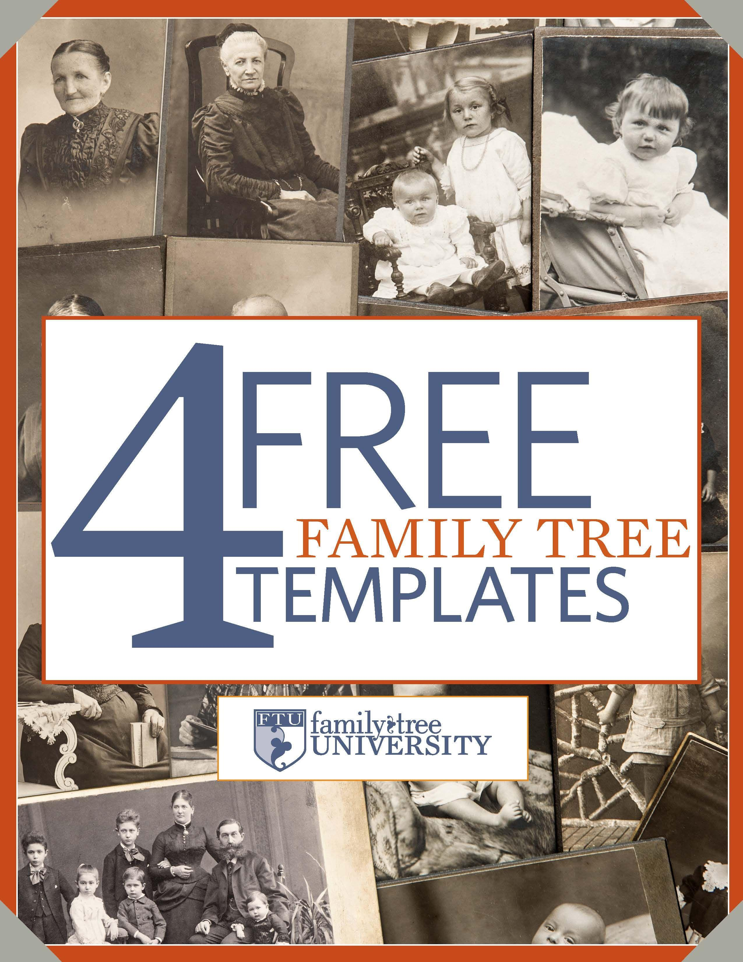 Free Genealogy Book Templates