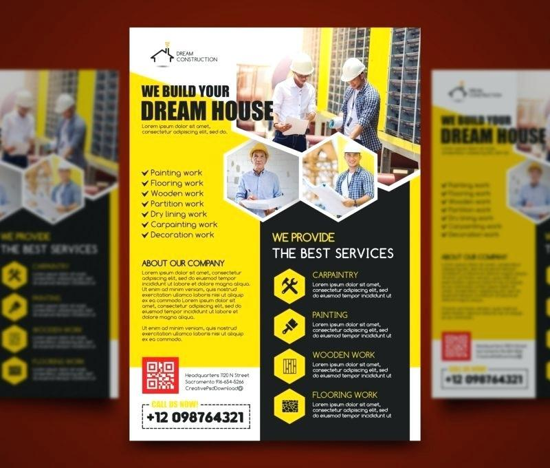 Free General Construction Flyer Templates