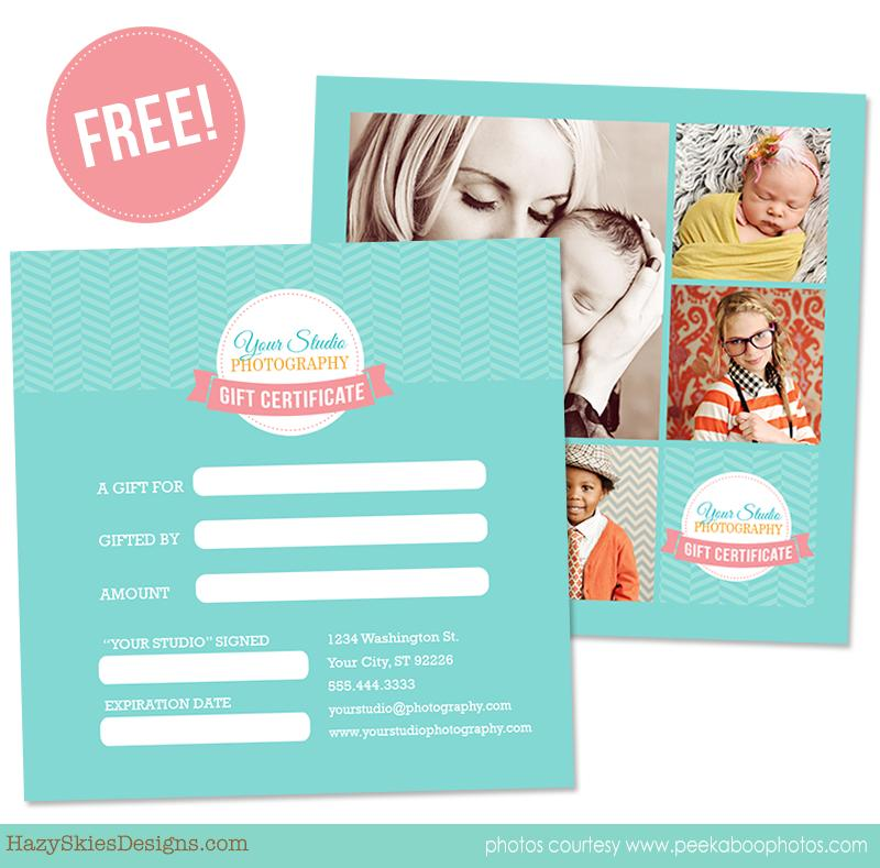 Free Gift Certificate Template For Photographers