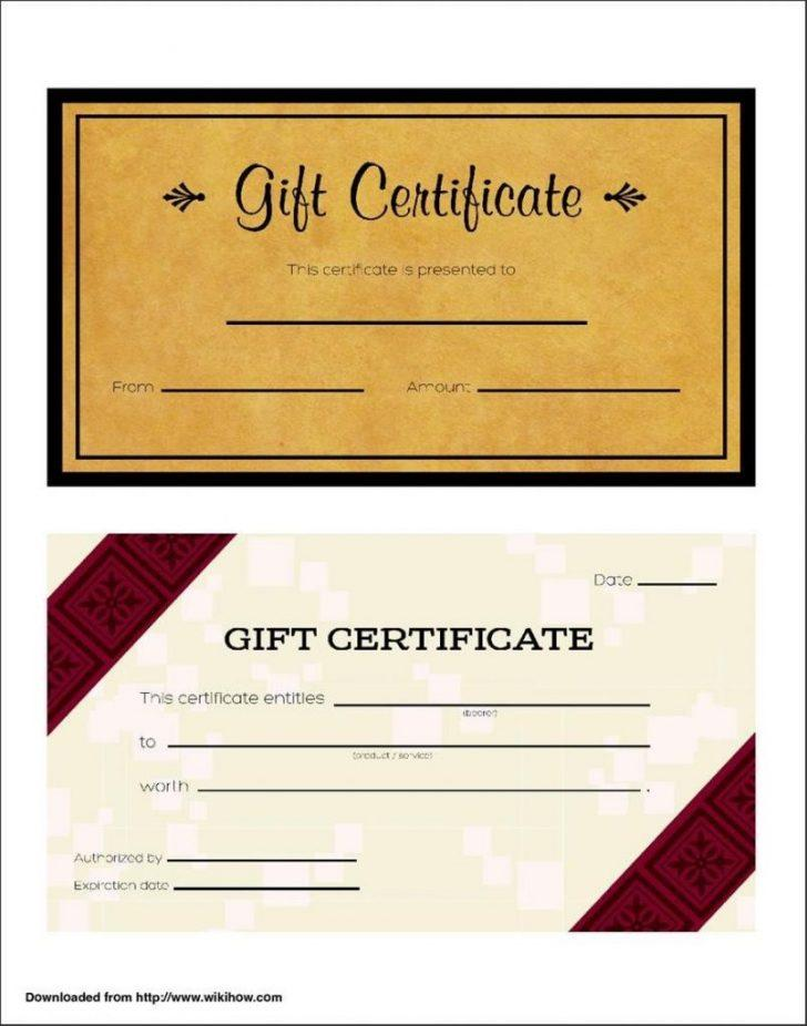 Free Gift Voucher Templates Uk
