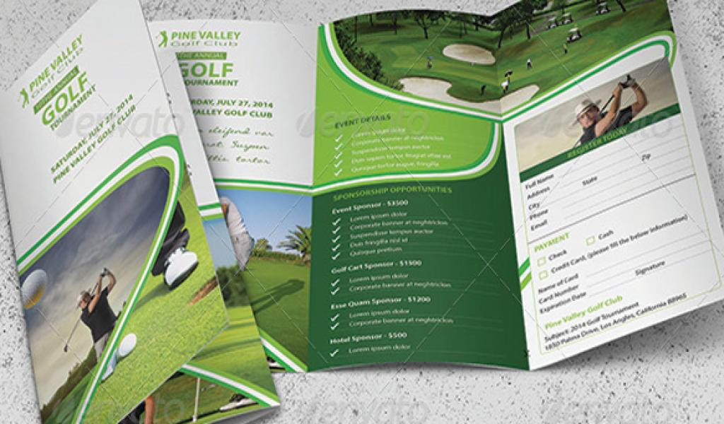 Free Golf Brochure Templates Background