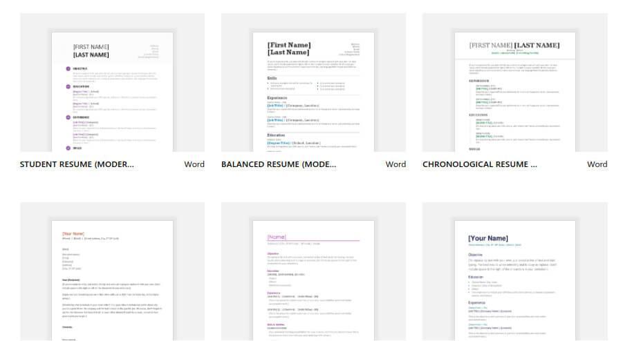 Free Google Docs Resume Templates