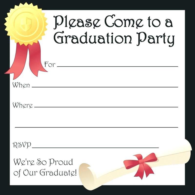 Free Graduation Invitation Flyer Templates