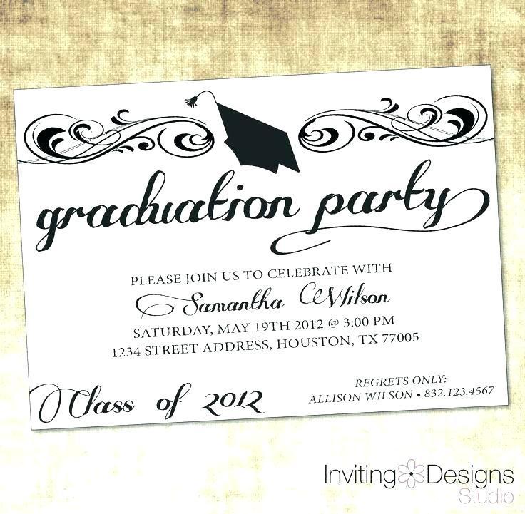 Free Graduation Invitation Templates Online
