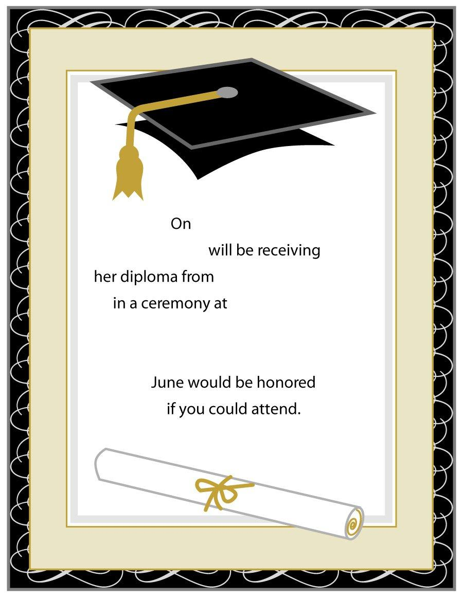 Free Graduation Invitation Templates Printable