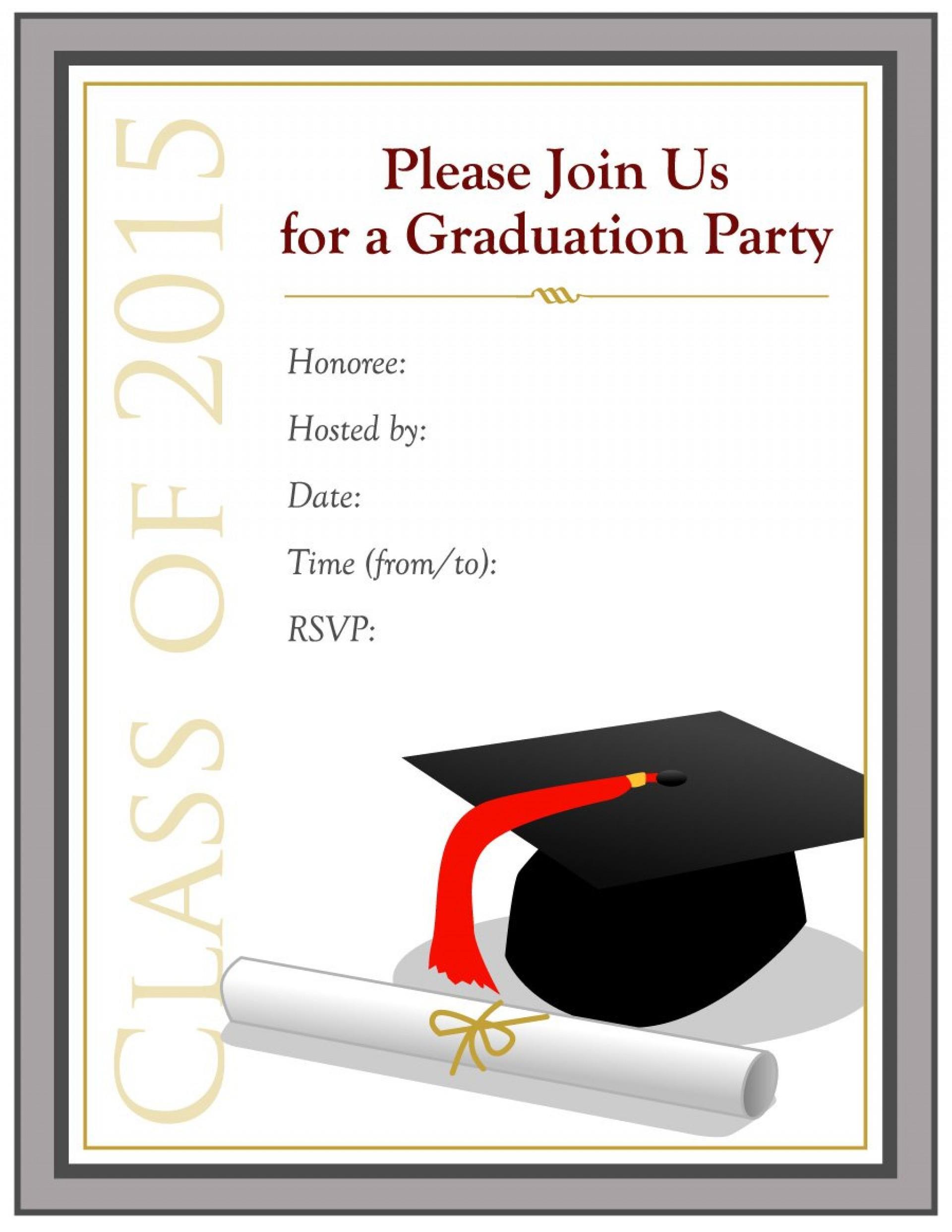 Free Graduation Invitation Templates To Print