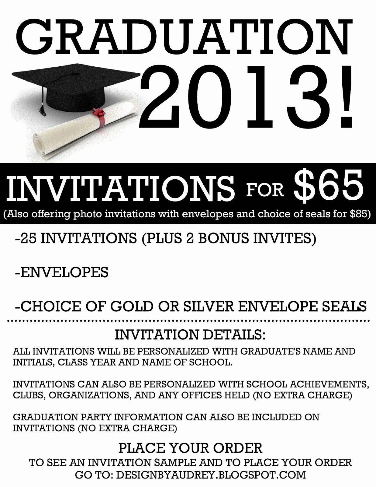 Free Graduation Party Invitation Wording Samples