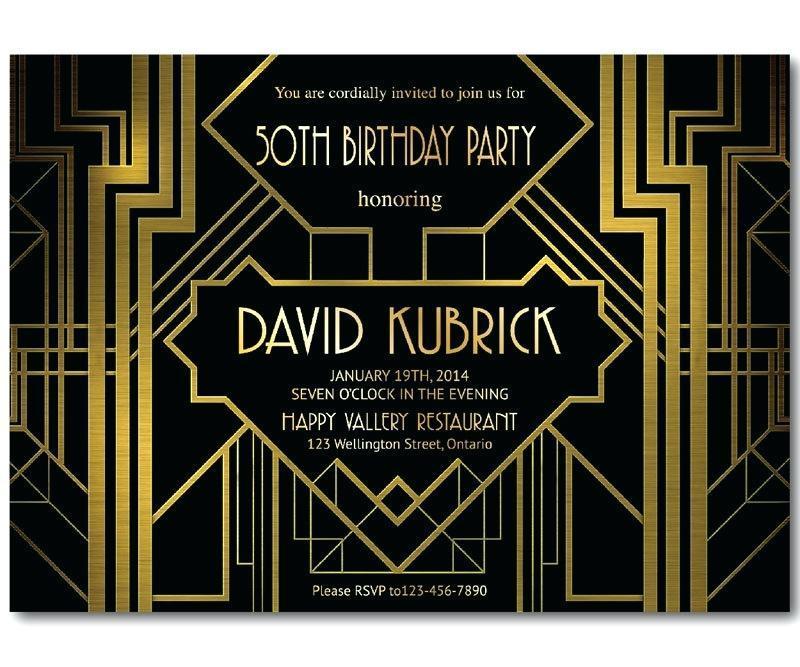 Free Great Gatsby Invitations Templates