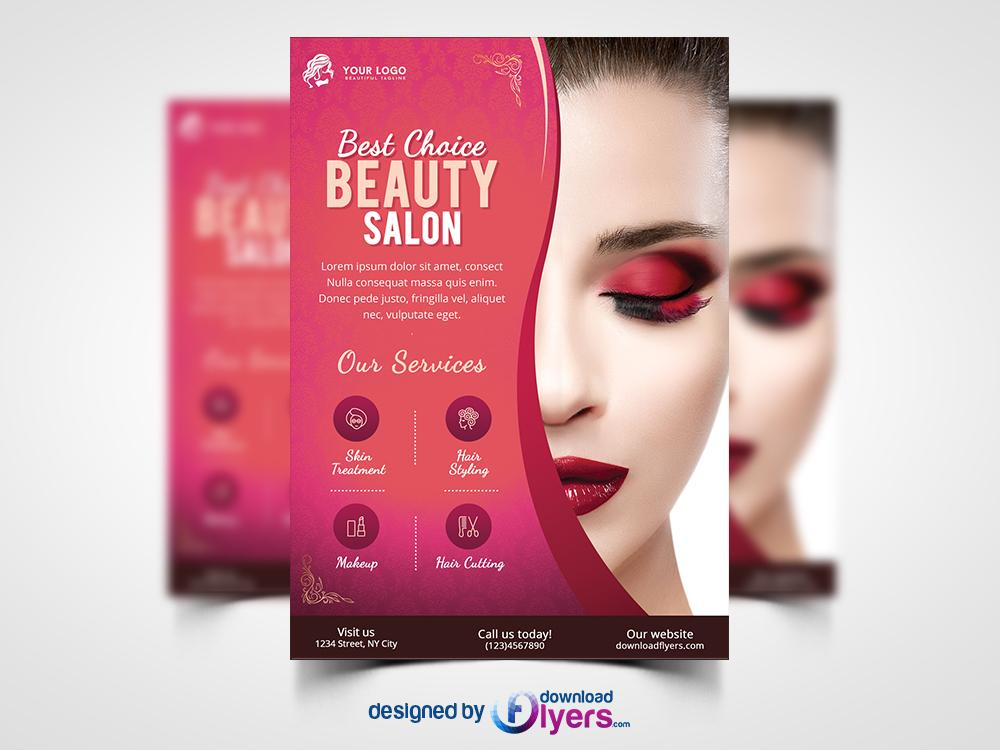 Free Hair Salon Flyer Templates Psd