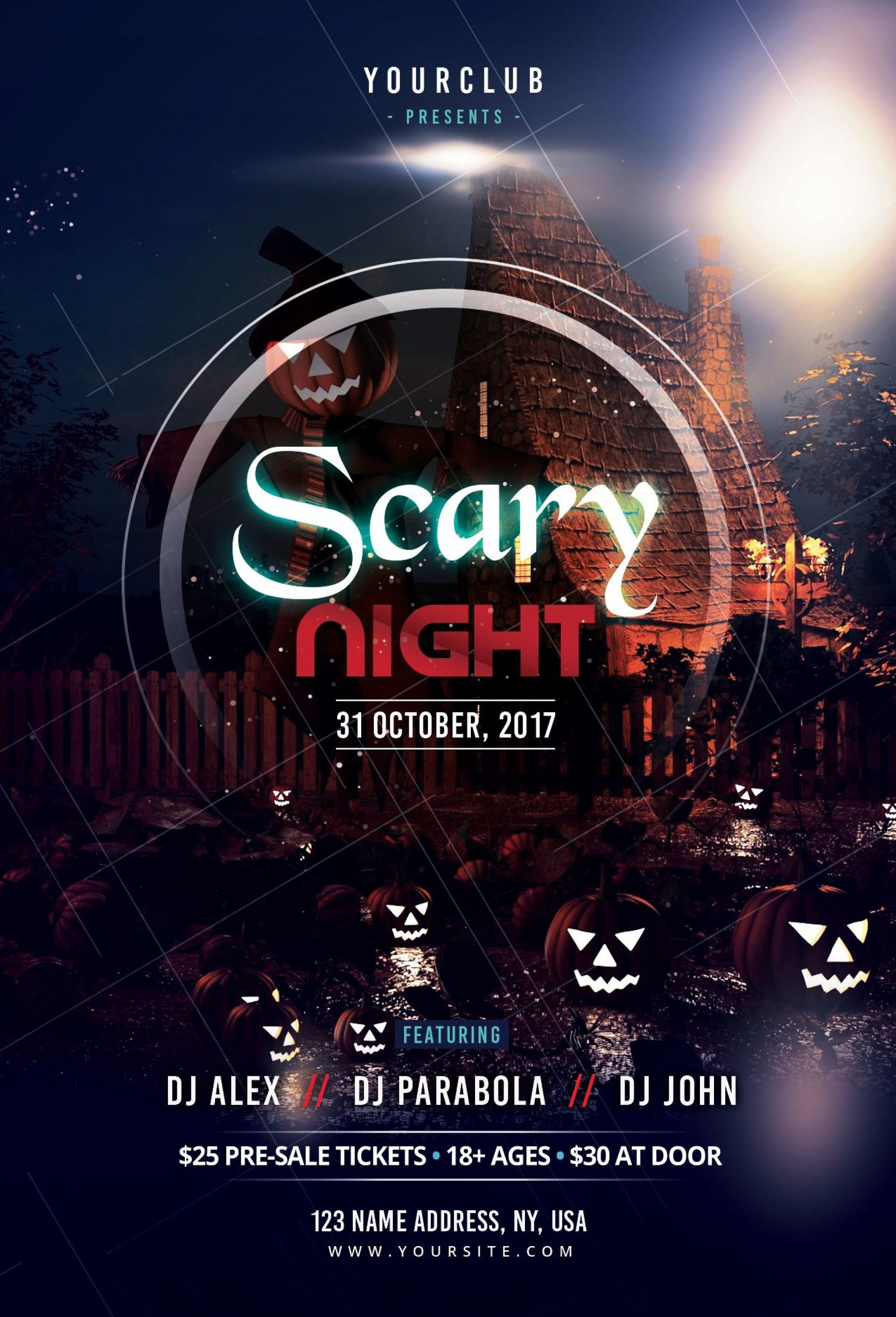 Free Halloween Flyer Templates Publisher