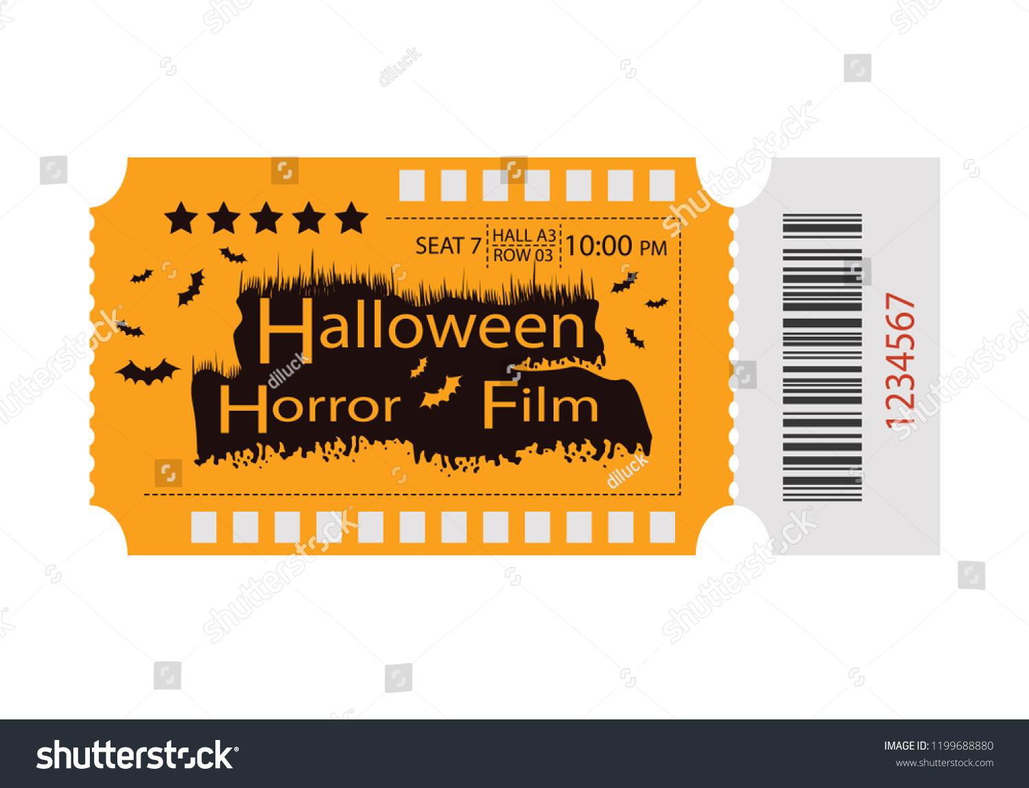 Free Halloween Party Ticket Template