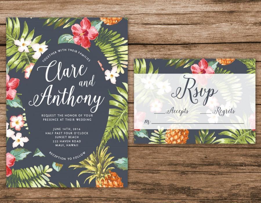 Free Hawaiian Invitation Templates