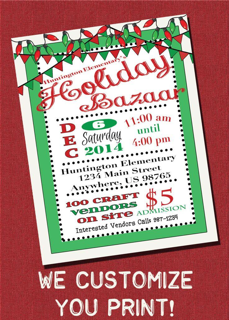 Free Holiday Bazaar Flyer Template