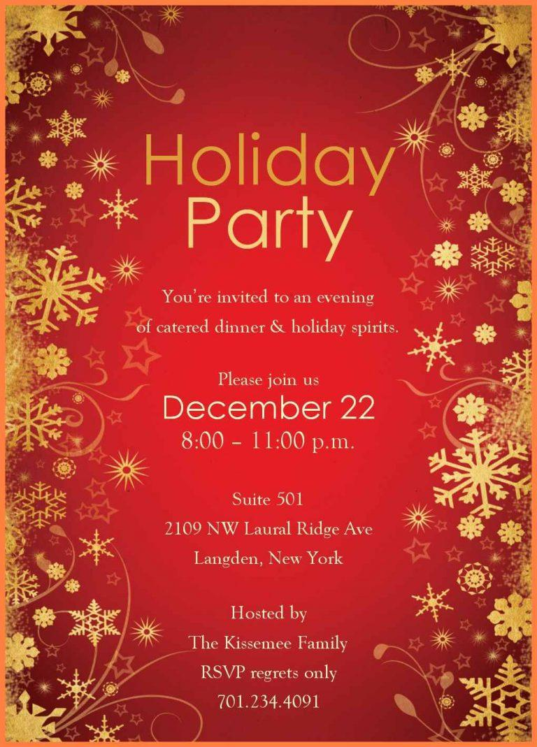 Free Holiday Party Invitation Templates For Word