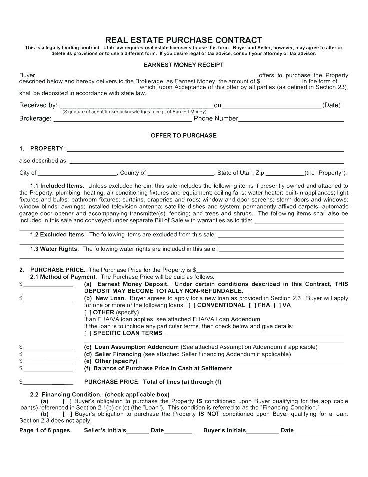 Free Home Sales Agreement Template