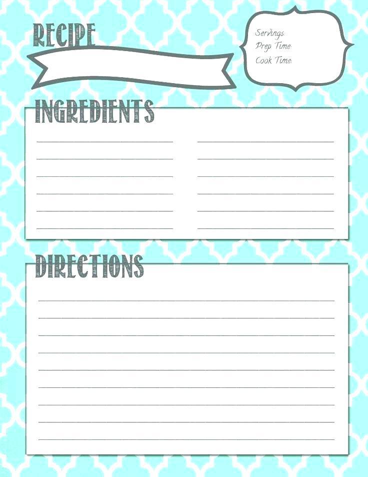 Free Homemade Recipe Book Template
