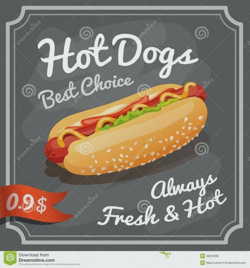 Free Hot Dog Flyer Template