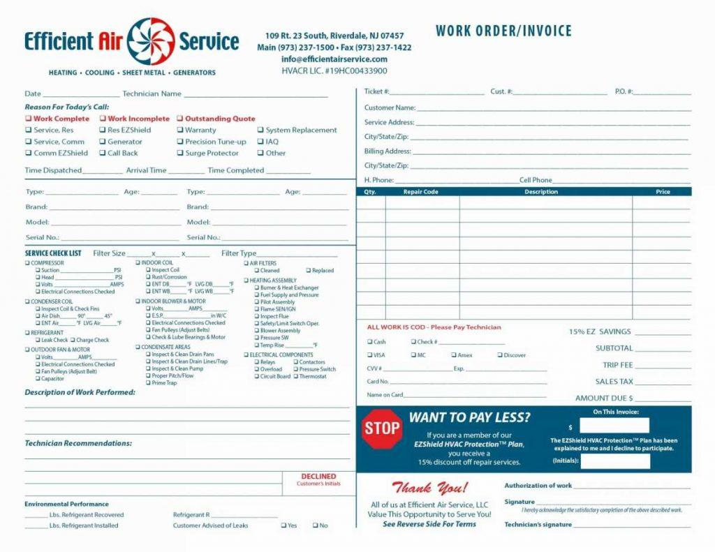 Free Hvac Invoice Forms