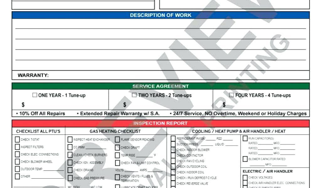 Free Hvac Maintenance Checklist Forms