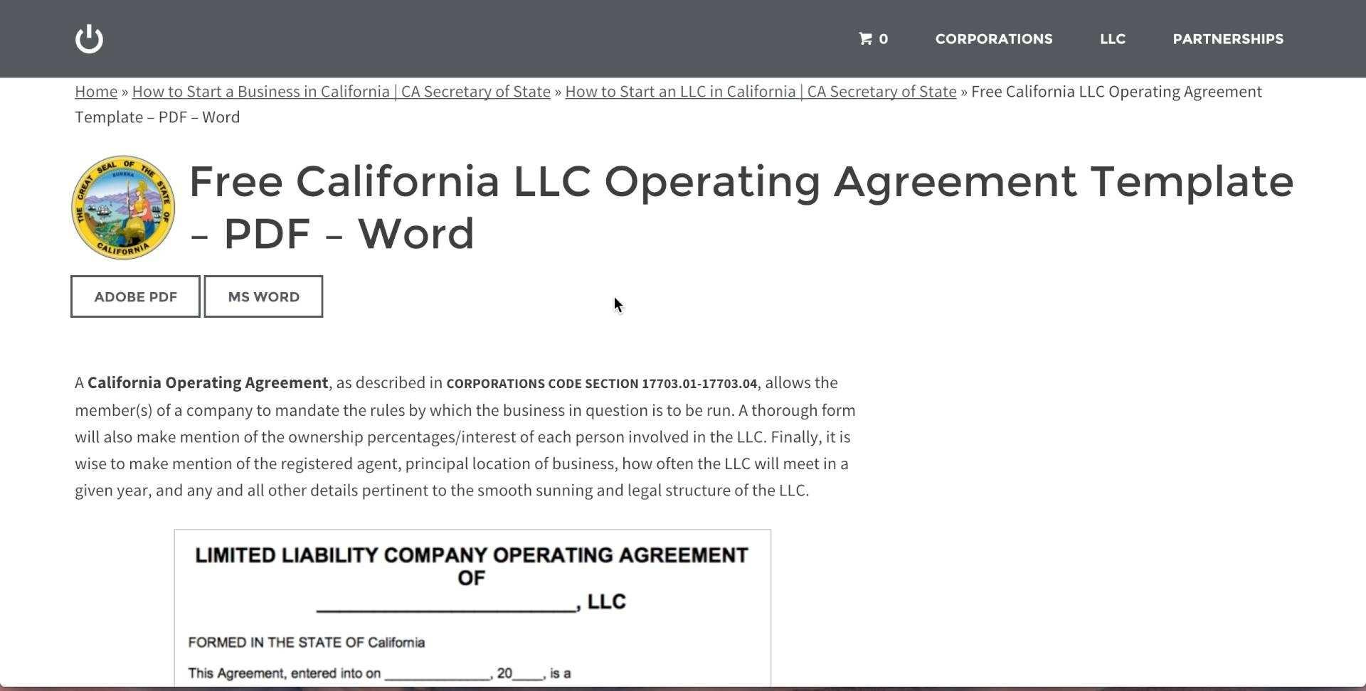 Free Illinois Llc Operating Agreement Template