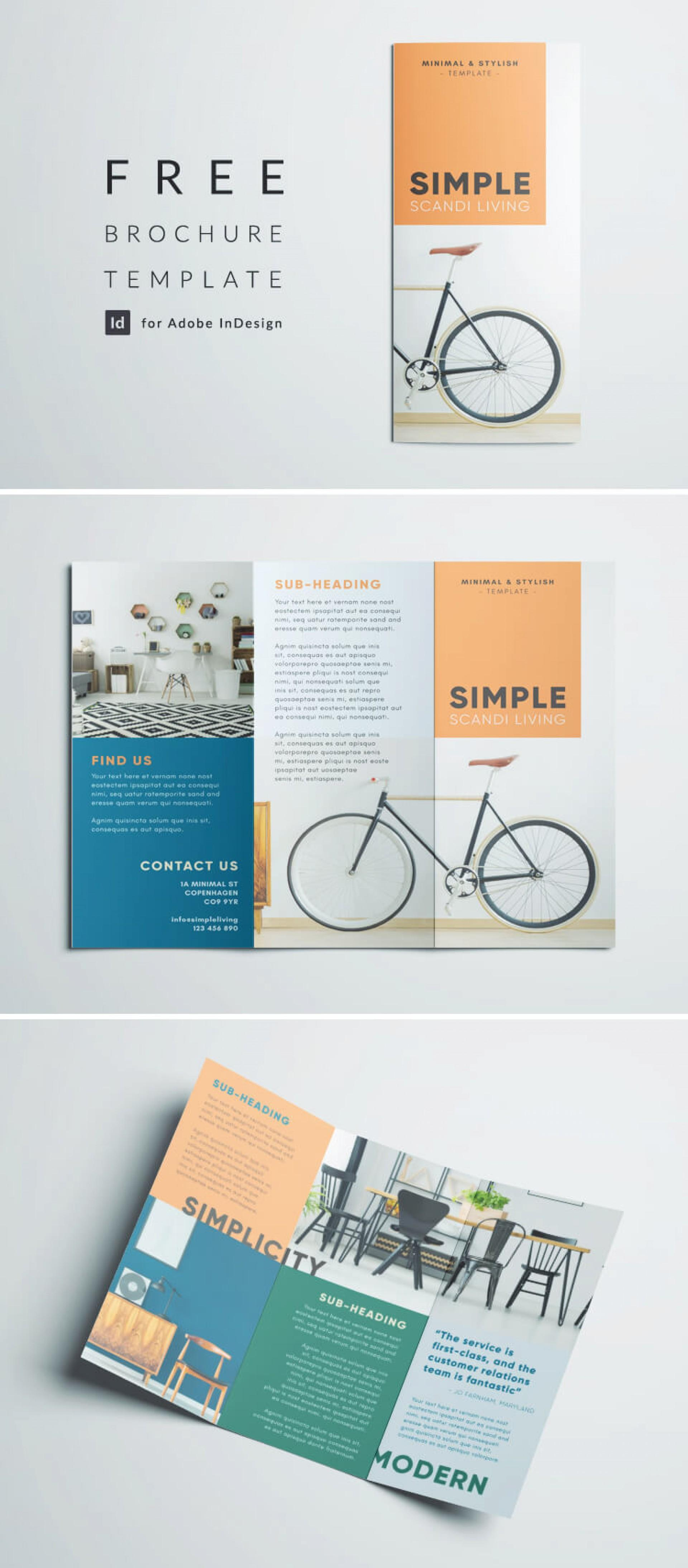 Free Indesign Template For Tri Fold Brochure