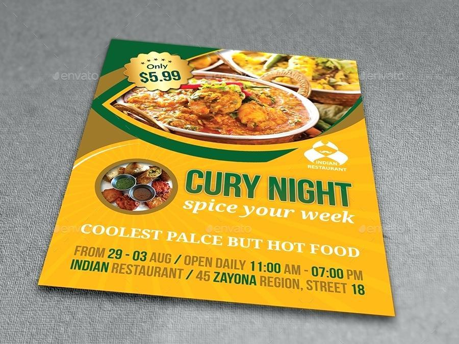 Free Indian Restaurant Flyer Templates