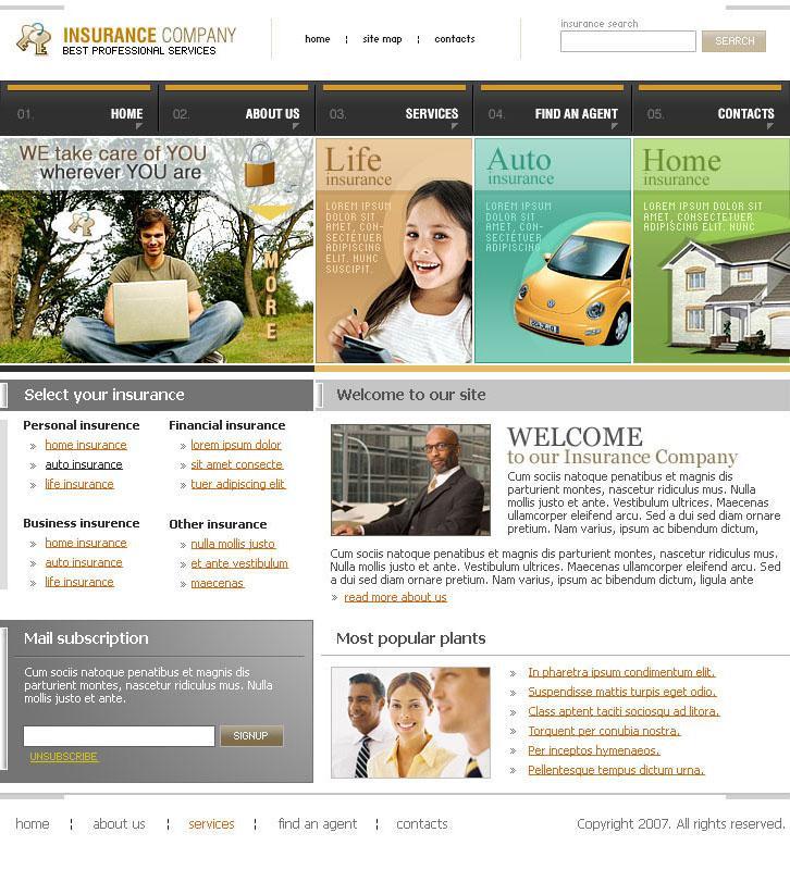 Free Insurance Agent Website Templates