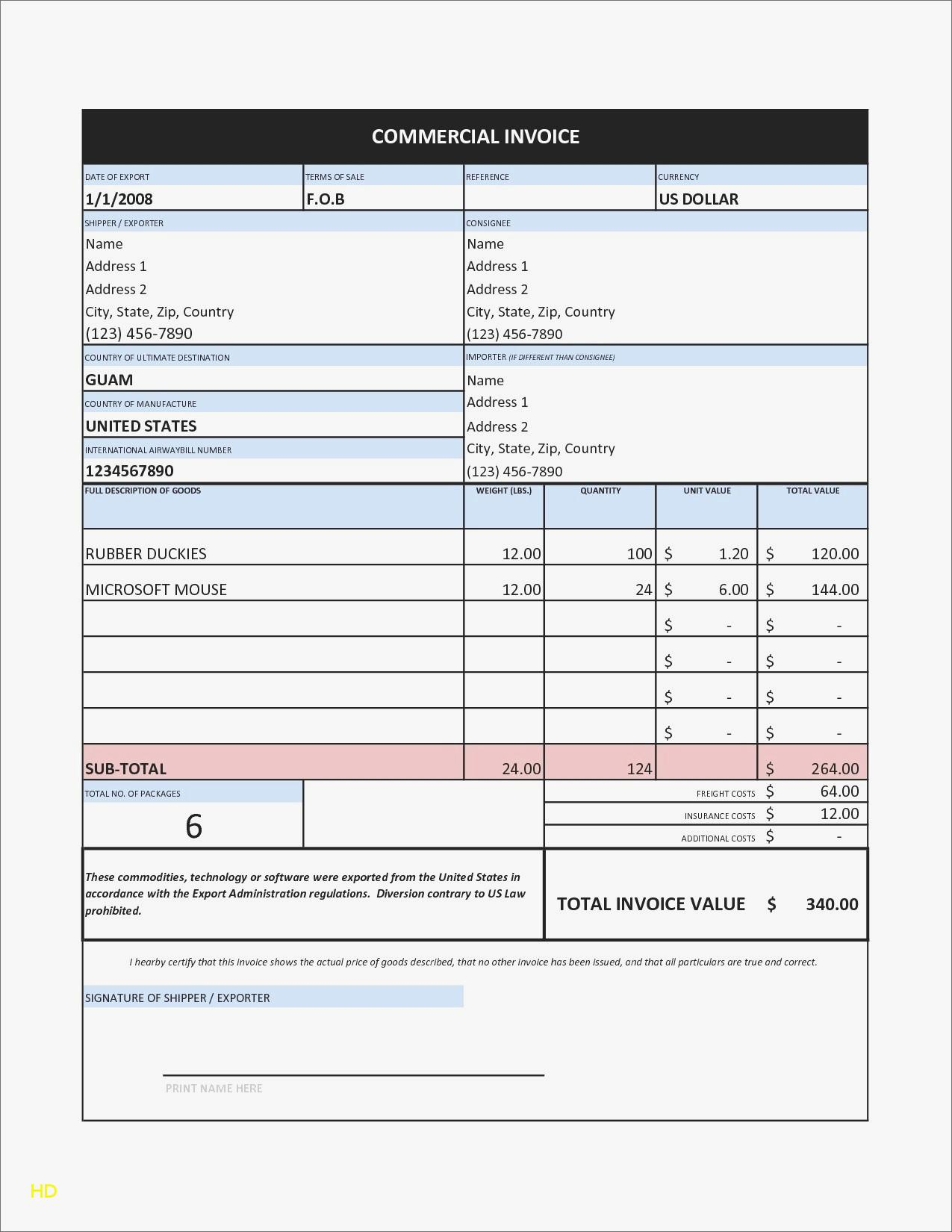 Free Invoice Forms Templates