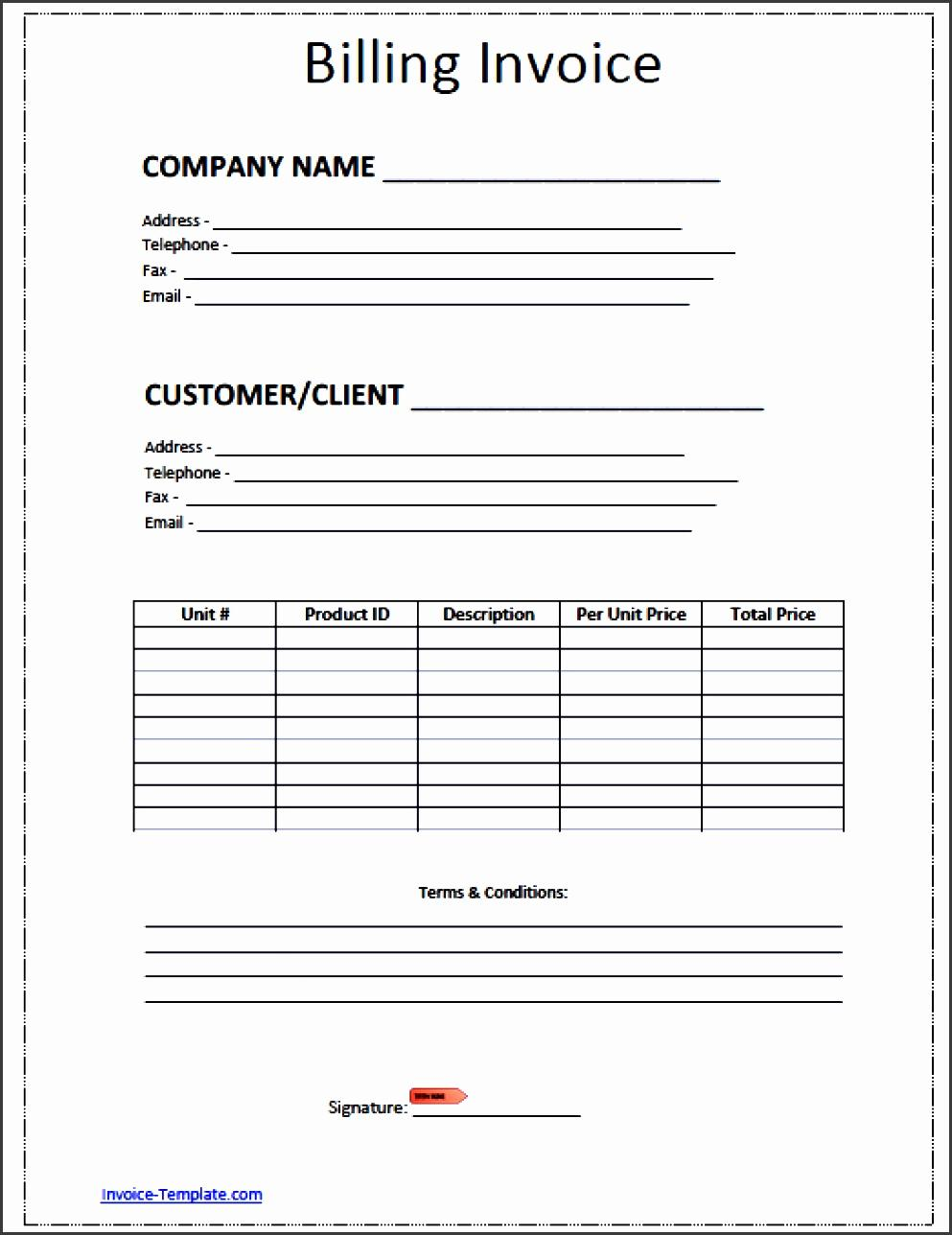 Free Invoice Statement Template Excel